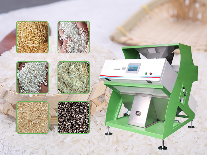 Rice color selector / color sorter machine