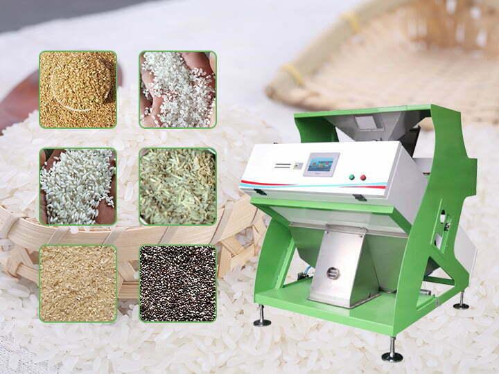 Rice color selector / color sorter machine