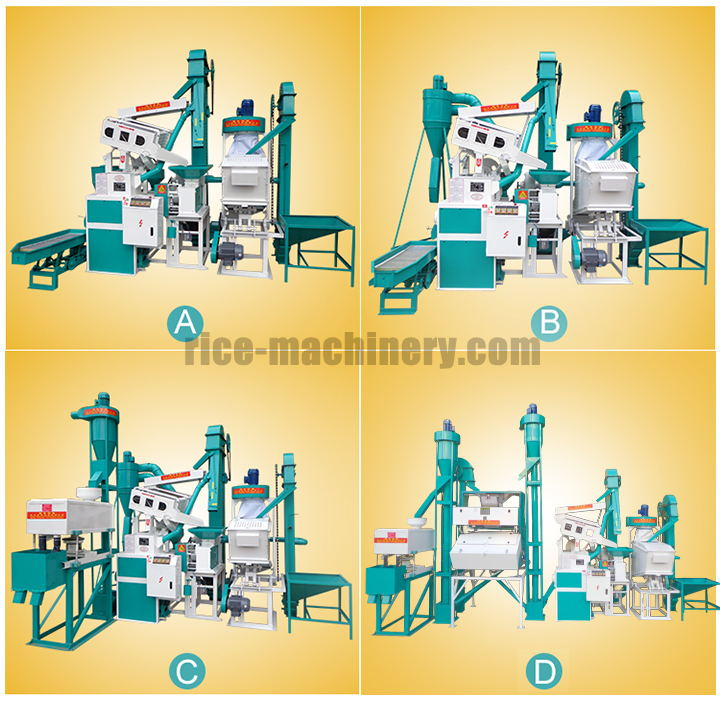four models rice milling plant