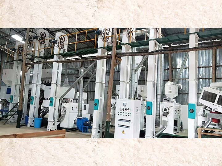 120T/D integrated rice hulling plant
